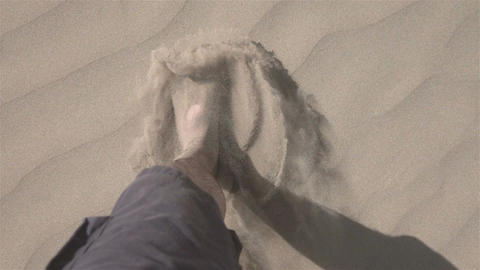 Video of man walking on the desert in real slow motion Footage