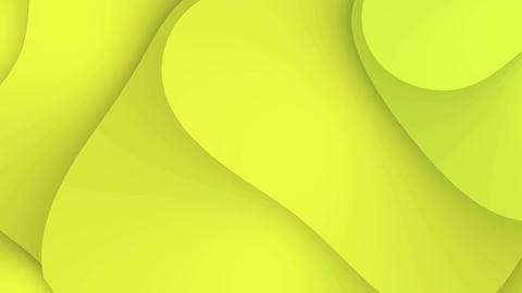Abstract yellow waves motion background loop Animation