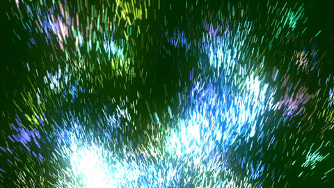 Abstract Green Glow Particles Animation