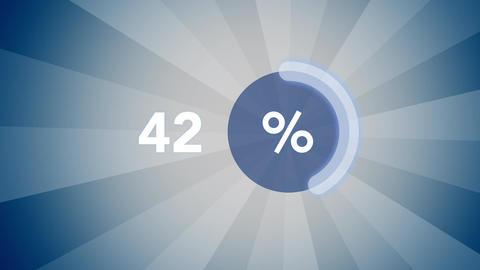 Blue percentage progress indicator Live Action