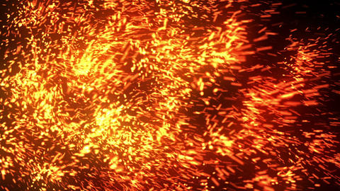 Abstract Fiery Particles Animation
