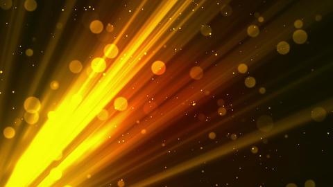 Bokeh Soft Rays Gold Animation