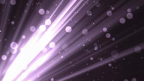 Bokeh Soft Rays Purple Animation