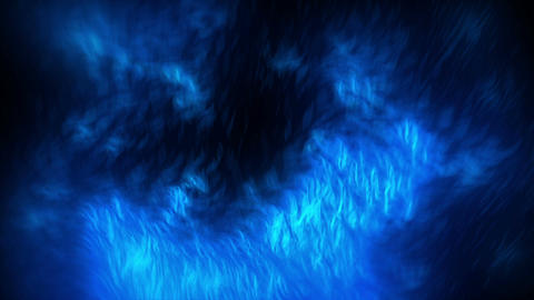 Fiery Particles Blue Animation