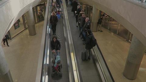 Milan, Italy Central Railway station metro escalator Footage