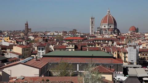 City View Of Florence Italy Firenze Italian Town In Tuscany Footage