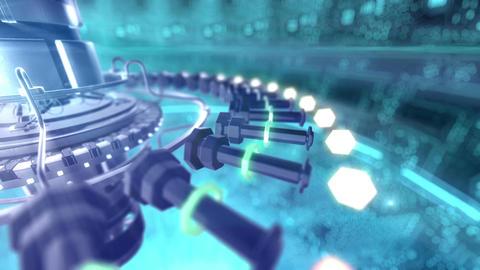 SHA Digital Tech BGimage Blue Animation