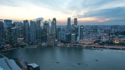 Business city Singapore Filmmaterial