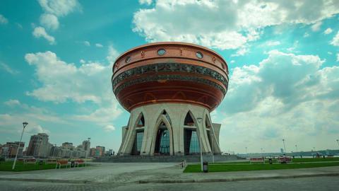 Timelapse Wedding Palace Building in Kazan Footage