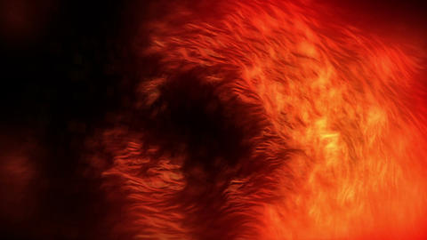 Fiery Particles Fly Red Animation