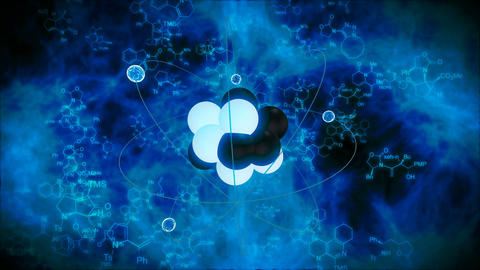 Abstract atom model animation Animation