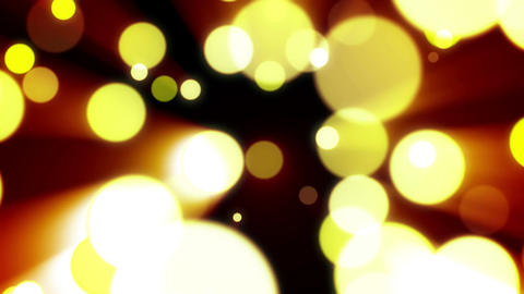 Abstract background with golden lignt bokah Animation