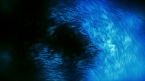 Fiery Particles Fly Blue Animation