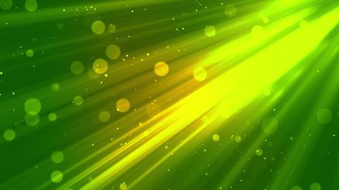 Bokeh Elegant Rays Green Animation
