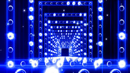 Lights Flashing Spotlight Wall VJ Light Bulb Loop Blue Animation