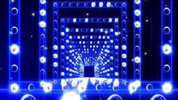 Lights Flashing Spotlight Wall VJ Light Bulb Loop Blue Animation