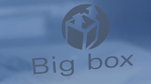 Macro View Words Big Box and Sign on Side Fridge Plastic Box Footage