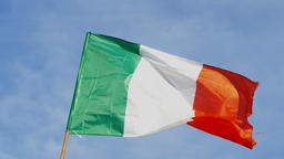 Ireland - Real national waving flag with blue sky in the background Footage