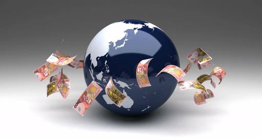 Global Business with New Zealand Dollars Animation