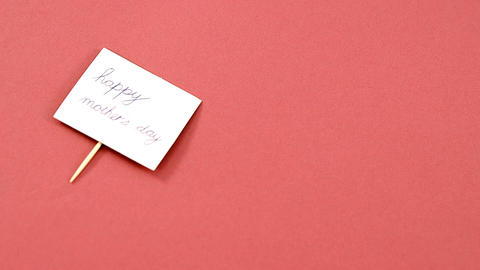 Happy mother day card on pink background Live Action