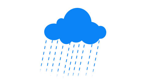 Cloud rains Popin and popout Animation