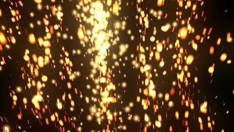 Glow Elegant Particles Gold Animation