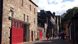 Great Britain Scotland Ross-shire Tain Glenmorangie distillery between buildings Footage