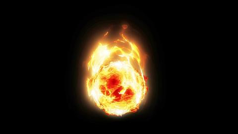 Crystal ball aura fire Animation