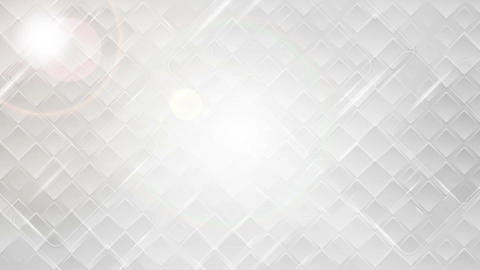 Abstract glossy grey tech squares video clip Animation