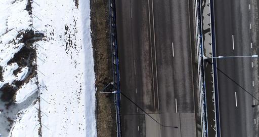 Aerial view highway Footage