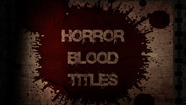 Horror Blood Titles Apple Motionテンプレート