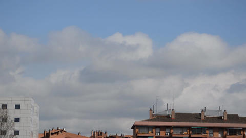 Big Clouds Over The Rooftops Footage