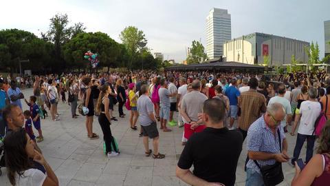 Big Crowd Watching Dancers Stock Video Footage