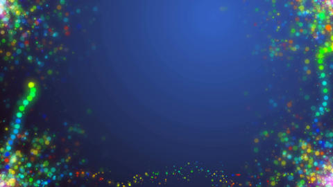 Green Holiday background with colorful particles Animation