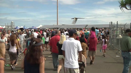 Wings Over the Pacific airshow at Joint Base Pearl Harbor Hickam, Hawaii Footage