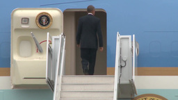 President Obama Departs MacDill Footage