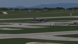 U. S. aircraft take off from Andersen Air Force Base, Guam Footage