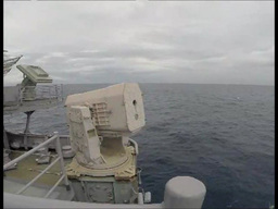 Rolling Airframe Missile Launcher Mk31 GMLS fires a missile Footage