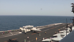 F/A-18 Hornets and Super Hornets Launch From USS George H.W. Bush Footage