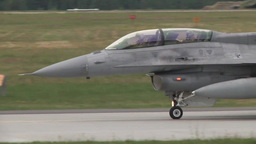 Polish F-16 fighter jets Launch to Participate in Exercise Eagle Talon Footage