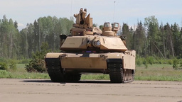 M1A2 Abrams operations Stock Video Footage
