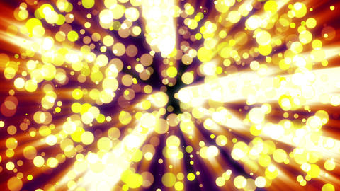 Abstract background with golden light bokeh on dark Animation