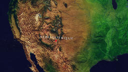 Albuquerque - United States zoom in from space Animation