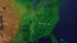 Atlanta - United States zoom in from space Animation