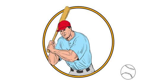 Baseball Player Batting 2D Animation Animation