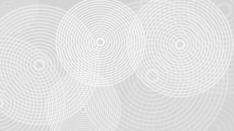 Abstract grey white rings video animation Animation