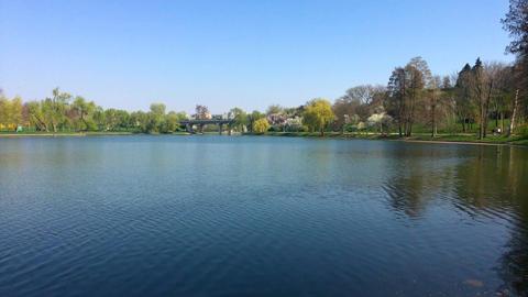 Park Landscape In Bucharest City Of Romania Footage