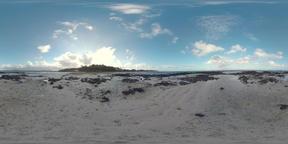 360 VR Mauritius coast with black rocks Archivo