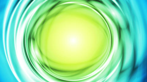 Blue green iridescent flowing circles video animation Animation