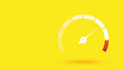 Animated tachometer speeding Animation